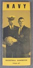 1966-67 NAVY Midshipmen Basketball Press/Media Guide                       (001)