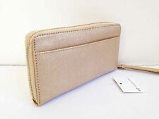 BNWT Authentic LIZ CLAIBORNE Zip Around Clutch Wallet Wristlet Gold Metallic FS