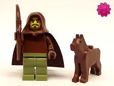 LEGO - Waldläufer / Ranger mit Bogen und Wolf + Clikits Blume *BT0069