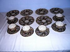 Atq. Capodimonte Cup, Saucer & Plate Set(s) Handpainted Embossed Figures 18 Pcs.