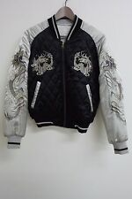 New SUKAJAN Dragon Japan Embroidery Reversible Souvenir Jacket Quilted Bomber