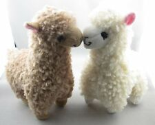 2pcs Cute Alpaca Plush Toy Camel Cream Llama Stuffed Animal Kids Doll 23cm Heigh