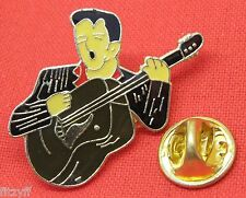 Elvis Guitar Lapel Hat Cap Tie Pin Badge The King Rock N Roll Brooch