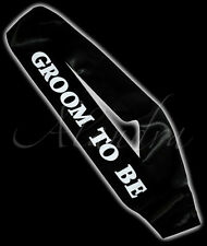 GROOM TO BE Black & White Sash for the the stag party night