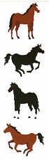 Mrs. Grossman's Stickers - Horses - Retired! Black and Bay Horse - 4 Strips