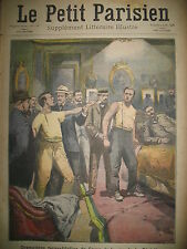 CRIME RECONSTITUTION SUISSE TUNNEL DE LOETSCHBERG JOURNAL LE PETIT PARISIEN 1908