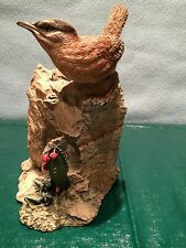 Thrasher Bird Statue Second Nature Design Wildlife Collectible Candle Holder
