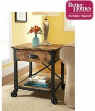 Better Homes And Gardens Rustic Country Coffee End Table Antiqued Black/Pine !!!
