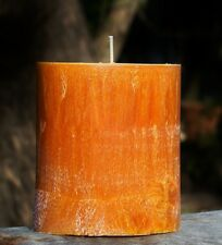 80hr LIMES, FIG & CAJU FRUIT Triple Scented Citrus OVAL CANDLE FREE SHIPPING