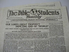 """1913 """"Bible Students Monthly"""" Matt 24 Prophecy explained Watchtower IBSA Jehovah"""