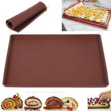 Non-stick Silicone Oven Sushi Baking Mat Pizza Pan Swiss Cake Roll Tray Mats S
