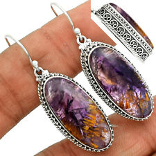 Cacoxenite Super Seven 7 Mineral 925 Sterling Silver Earrings Jewelry CACE355