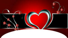 20 water slide french tip decals Valentine red black silver heart Trending