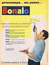 PUBLICITE ADVERTISING 114 1960 BONALO la peinture à l'eau