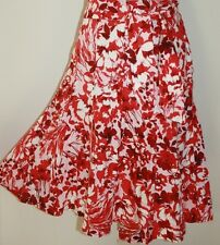PER UNA Red & White Linen Skirt SIZE 14 BNWT @ £39.50 The High Street Collection