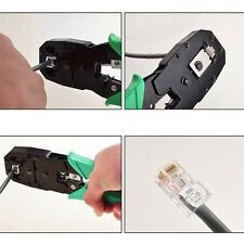 Network RJ45 CAT5 RJ11 RJ12 LAN Cable Wire Crimper Crimp Plier Strip Tool F7