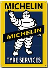MICHELIN TYRE SERVICES METAL SIGN,RETRO,GARAGE,TYRES,BRITISH TYRES.