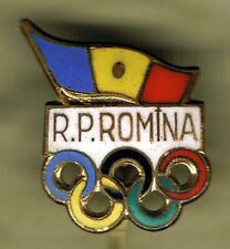 SUMMER OLYMPIC GAMES TOKYO 1964 - N.O.C. OF ROMANIA PIN.