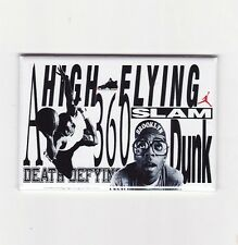 MICHAEL JORDAN / HIGH FLYING - MINI POSTER FRIDGE MAGNET nike air 3 4 5 iv mars