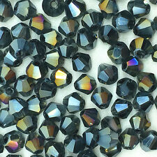 500pcs ink blue AB Glass Crystal 4mm Bicone Beads loose beads@