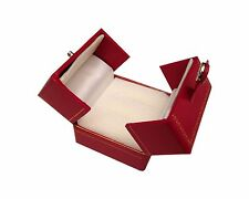 Leatherette Double Ring Box Snap-Tab Jewelry Gift Organizer Packaging 3ps