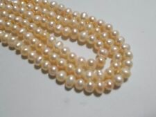 75pcs 5mm - 6mm FRESHWATER PEARL Beads - PEACH Potato Oval Round ( 1 strand)