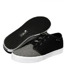 Circa DRIFTER Black White Gray Textile Casual Skate Sneakers Men's Shoes