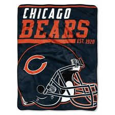 """New NFL Chicago Bears Soft Micro Rasche Large Throw Blanket 46"""" X 60"""""""