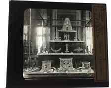 Ancienne plaque verre lanterne magique Bijoux Egyptiens au Louvre