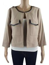 Nw Ex Marks & Spencer M&S Collection Beige Crop 3/4 Sl Edge to Edge Jacket 20