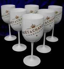 MOET CHANDON ICE IMPERIAL CHAMPAGNE  FLUTES X 6 UNBOXED  NEW STYLE 2016