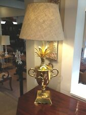 Handcrafted  french  BRASS PINEAPPLE LAMP   Beautiful home decor quality light
