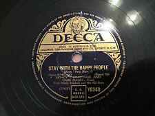 HOAGY CARMICHAEL, CASS DALEY Stay With The Happy People/My Resistance Is Low  78