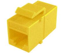 10x CAT 6 Keystone Jack Network Ethernet Inline Coupler Yellow K65-4185-CJ-YL