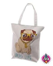 PUG LIFE TOTE SHOPPER SHOPPING BAG RETRO FUNKY NEW WITH TAGS