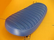 """YAMAHA DT100 DT125 ENDURO CAFE STYLE DOUBLE SEAT COMPLETE """"BLUE"""" BID  (as)"""