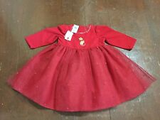 GIRL'S DISNEY STORE WINNIE THE POOH RED DRESS ( SIZE 24 MONTHS ) NWT CUTE !!