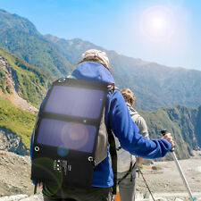 VODOOL Portable Foldable Dual USB Solar Power Cell Panel Charger For Hiking