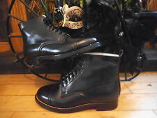 NEW BOXED 100% LEATHER VICTORIAN,FESTIVAL,DOWNTON,STEAMPUNK,GOTH ANKLE BOOTS,SZ4