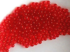 #1391D Vintage Solid Glass Balls 2 1/2mm Eyes No Hole Marbles Solid Red Ruby