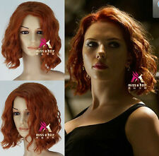 The Avengers : Age of Ultron-Black Widow Red-Brown Short Slightly Curled Wig