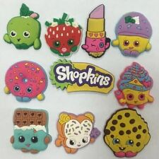 SHOPKINS CHARMS/CROCS/CUPCAKE FREE SHIPPING 10 PIECES