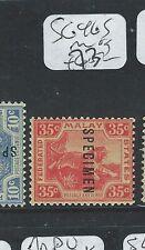 MALAYA FMS (P0210B) TIGER 35C  SG 46  S   SPECIMEN MOG