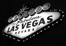 B & W Print Of Welcome To Las Vegas Sign. Art & Photography Poster Picture