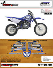 Yamaha TTR 125 2000-2007 Dirt Bike Impact Graphics KIT Enjoy MFG Fast SHIPPING