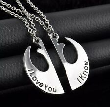 G81 NEW Star Wars Rebel Sign His Hers I Love You I Know Couple Couples Necklaces