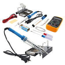 10in1 110V 60W Electric Solder Soldering Iron Kit w/ Multimeter Desoldering