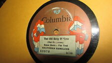CALIFORNIA RAMBLERS COLUMBIA 78RPM RECORD 3970 THAT OLD GANG OF MINE