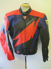 "Vintage Dainese CAFE RACER Leather Motorcycle Biker Jacket L 44"" Euro 54"