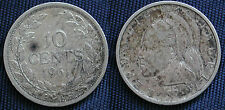 MONETA COIN MONNAIE AFRICA REPUBLIC OF LIBERIA 10 CENTS 1961 ARGENTO SILVER #1